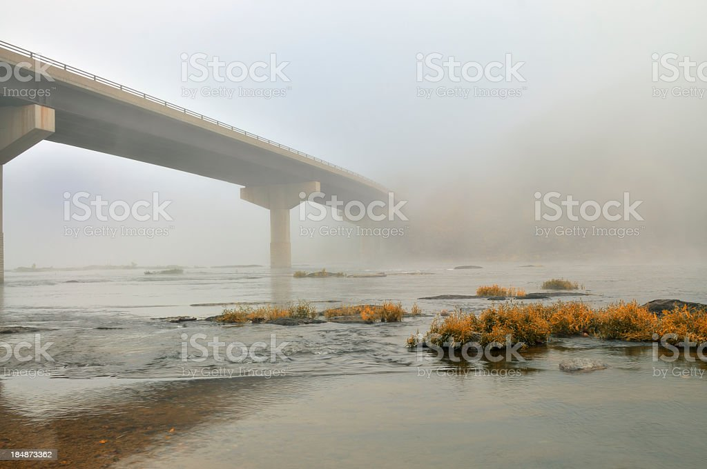 Shendoah Bridge In Fog stock photo