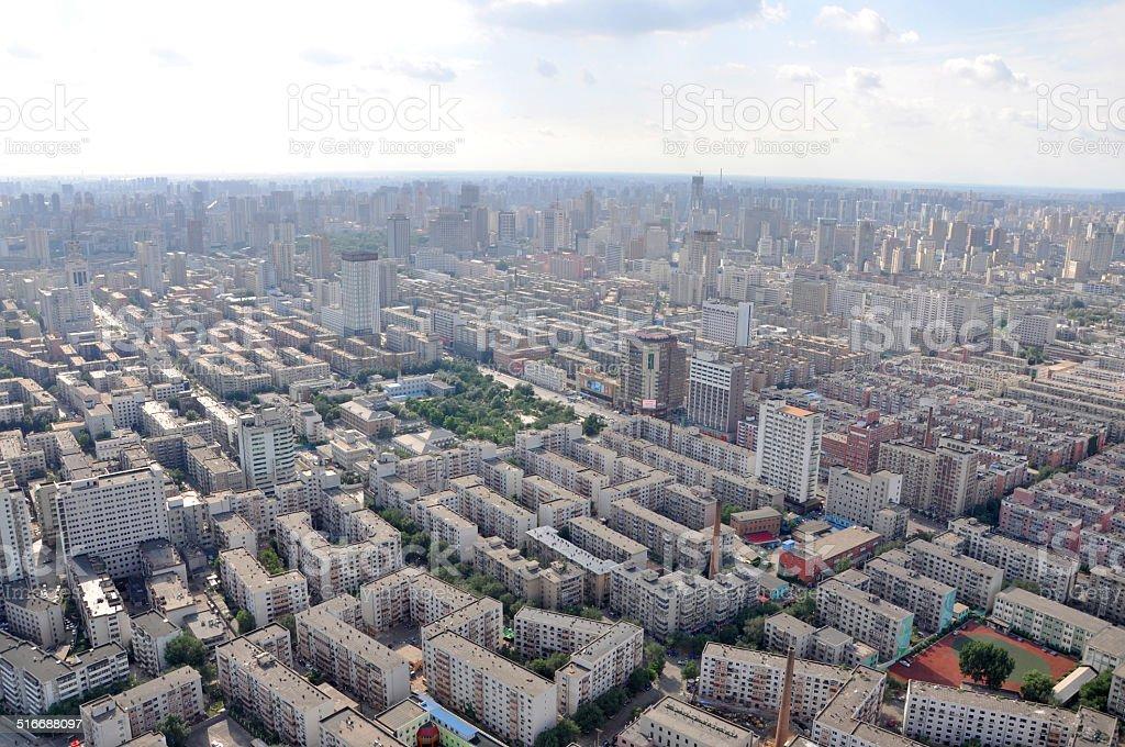 Shenyang City Skyline, Liaoning, China stock photo