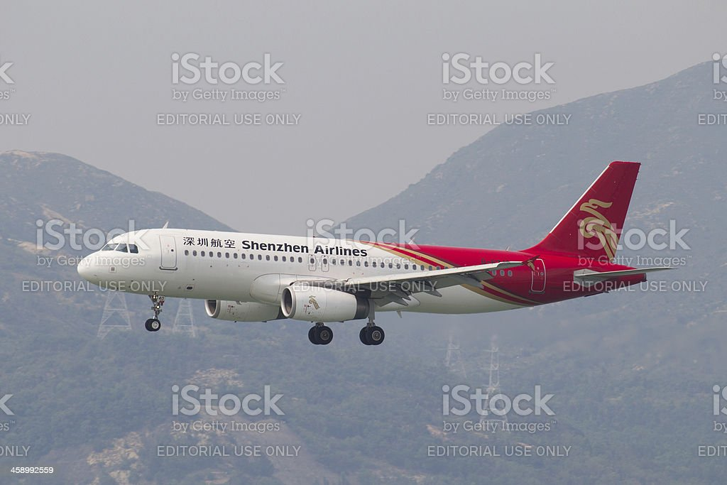 Shenzhen Airlines Airbus A320 stock photo