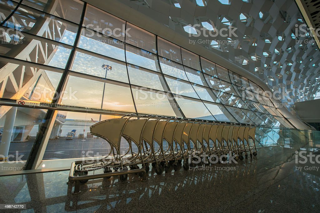 Shenzhen Airport Carts stock photo