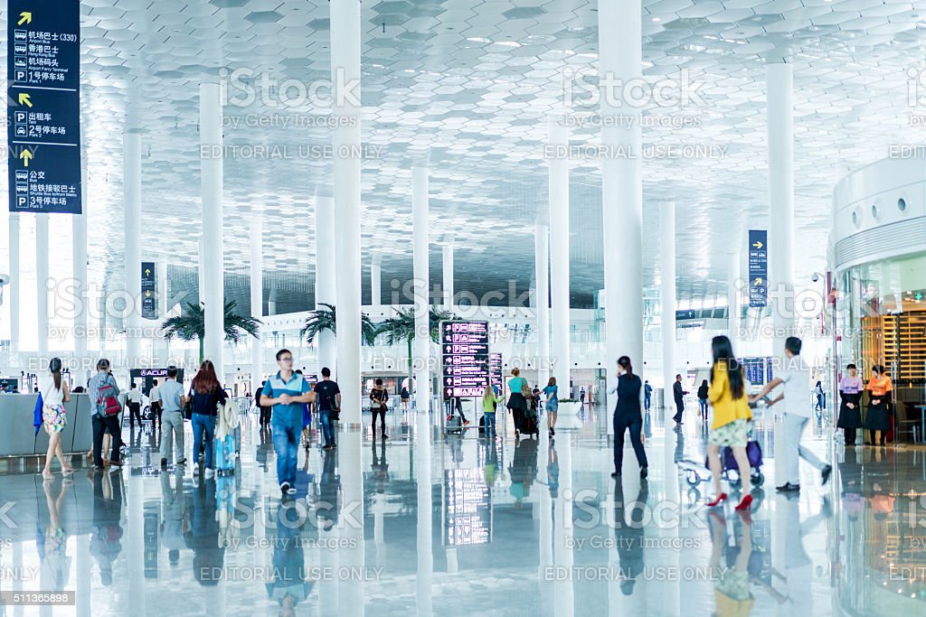 Shenzhen Bao'an International Airport stock photo