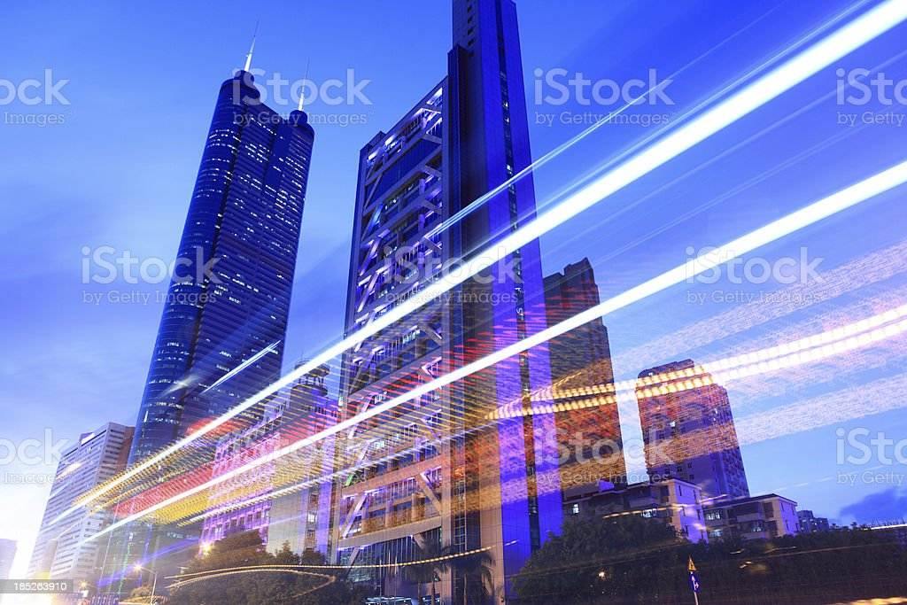 ShenZhen Business District royalty-free stock photo