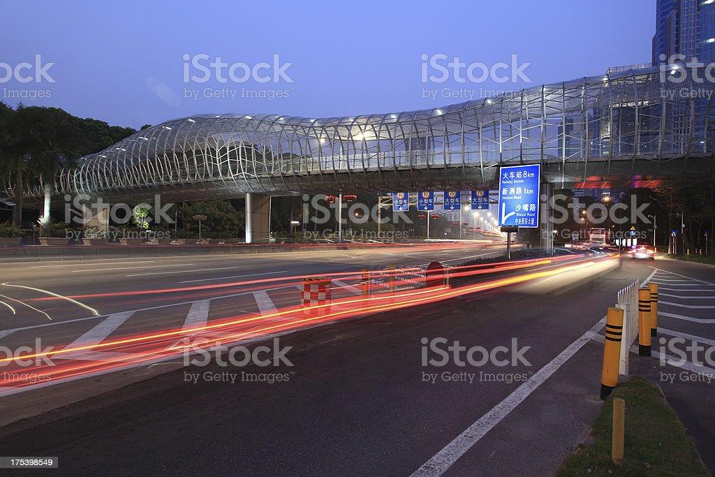 Shenzhen, China Night royalty-free stock photo