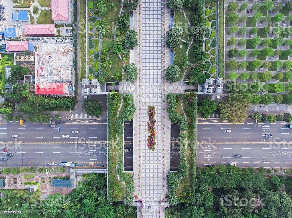 Shenzhen Civic Center park stock photo