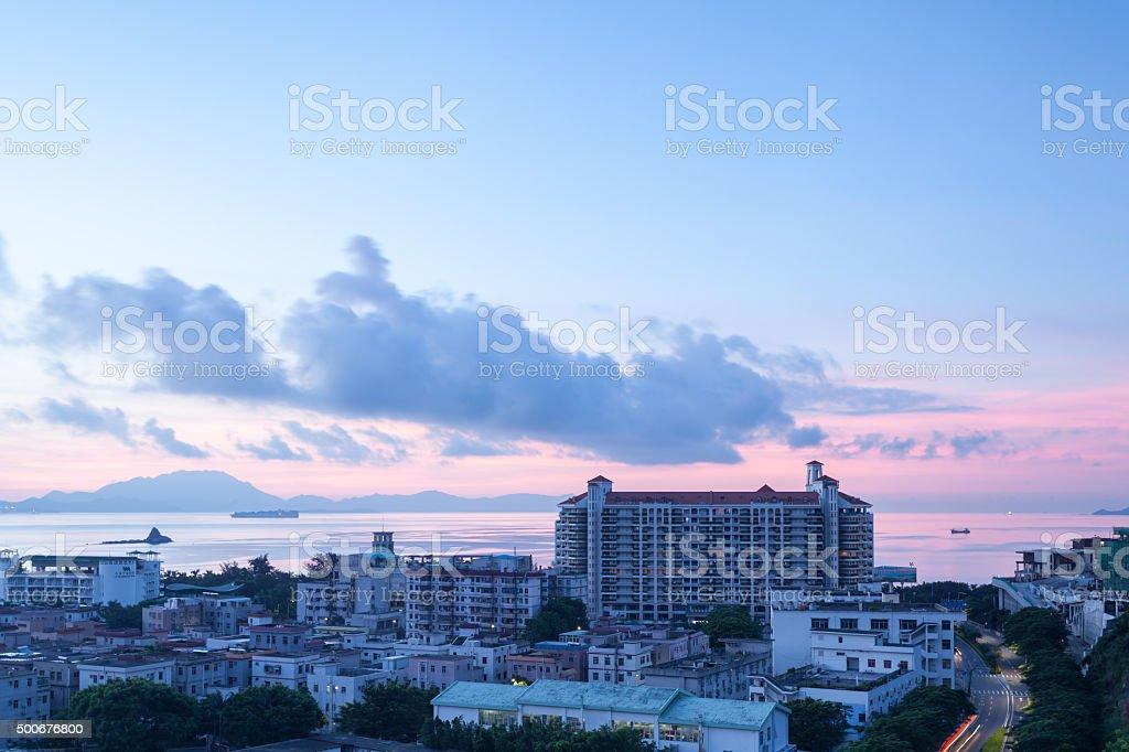 Shenzhen Dameisha Morning stock photo