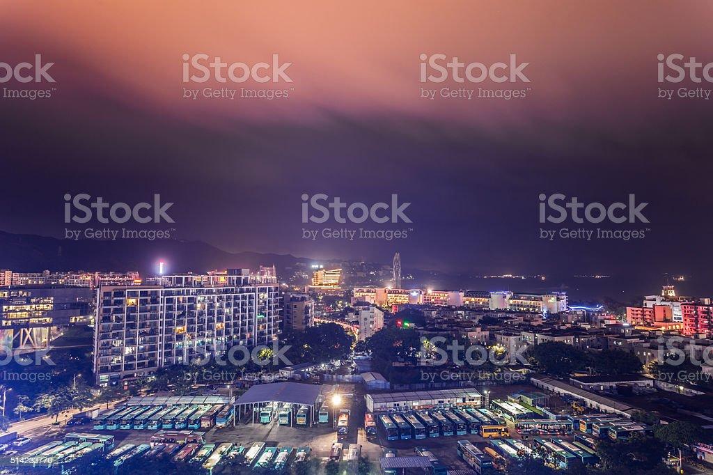 Shenzhen Dameisha Night stock photo
