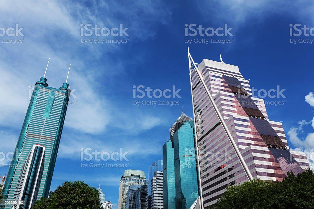 Shenzhen Financial District Buildings stock photo