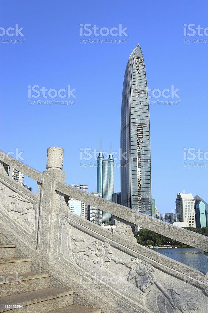 Shenzhen New Skyline royalty-free stock photo