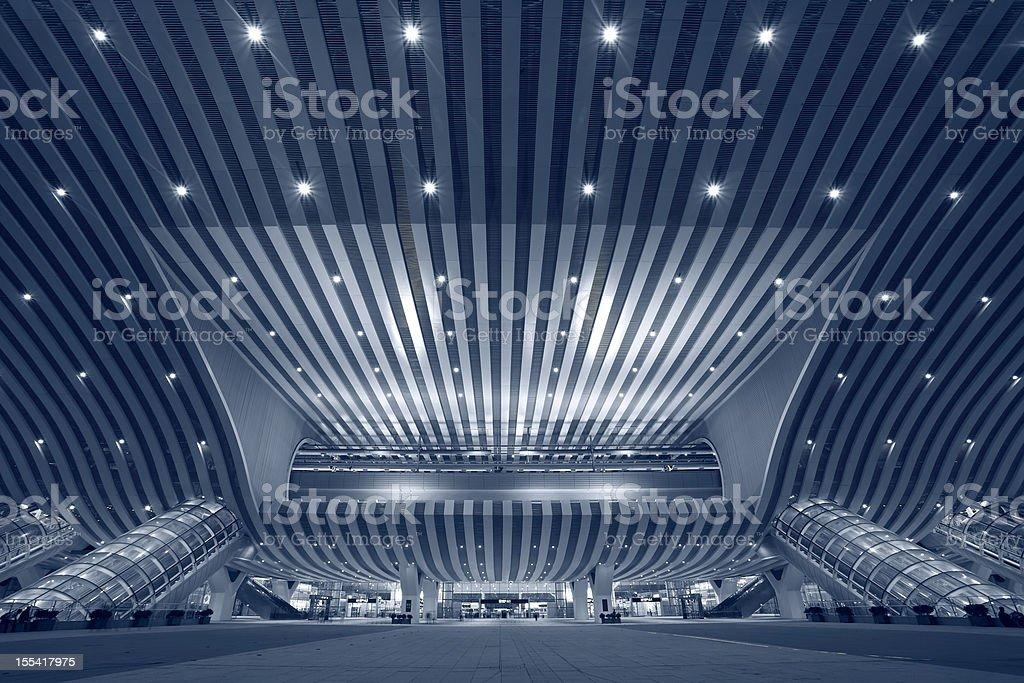 Shenzhen North Railway Station,Night view royalty-free stock photo