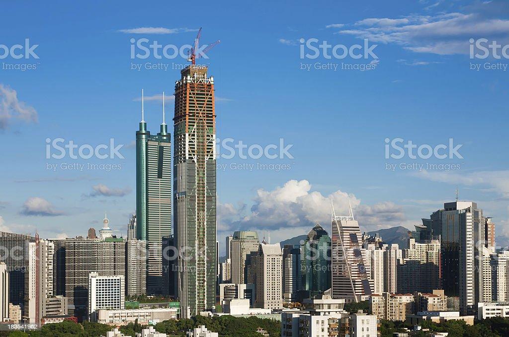 Shenzhen skyline royalty-free stock photo