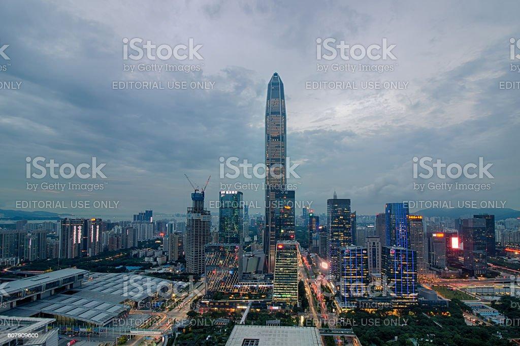 Shenzhen skyline stock photo