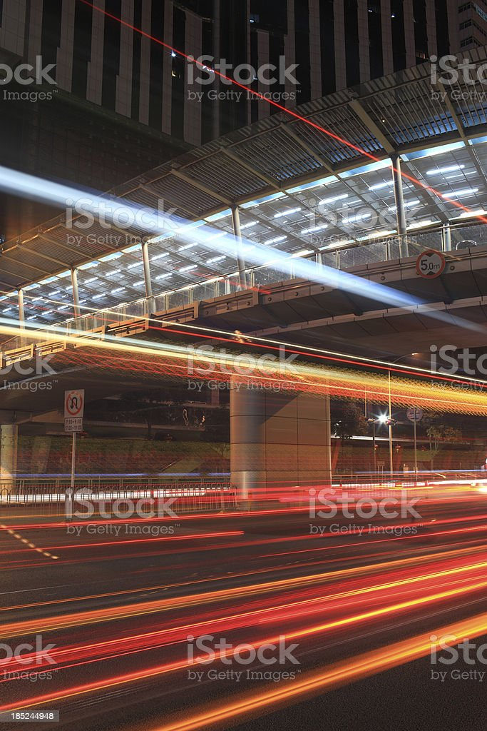 Shenzhen street night scene royalty-free stock photo