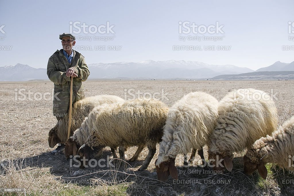 Shepherd, Denizli, Turkey stock photo