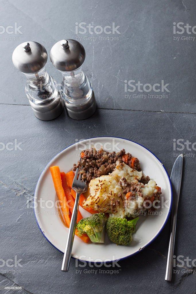 Shepherd's Pie With Vegetables stock photo