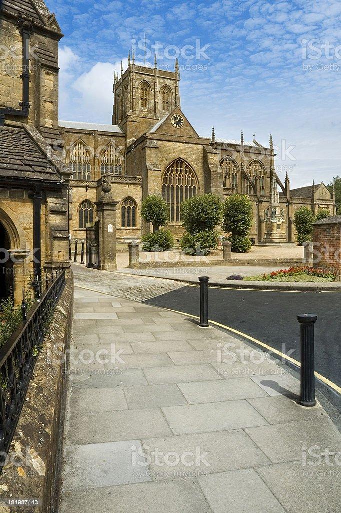 Sherborne Abbey stock photo