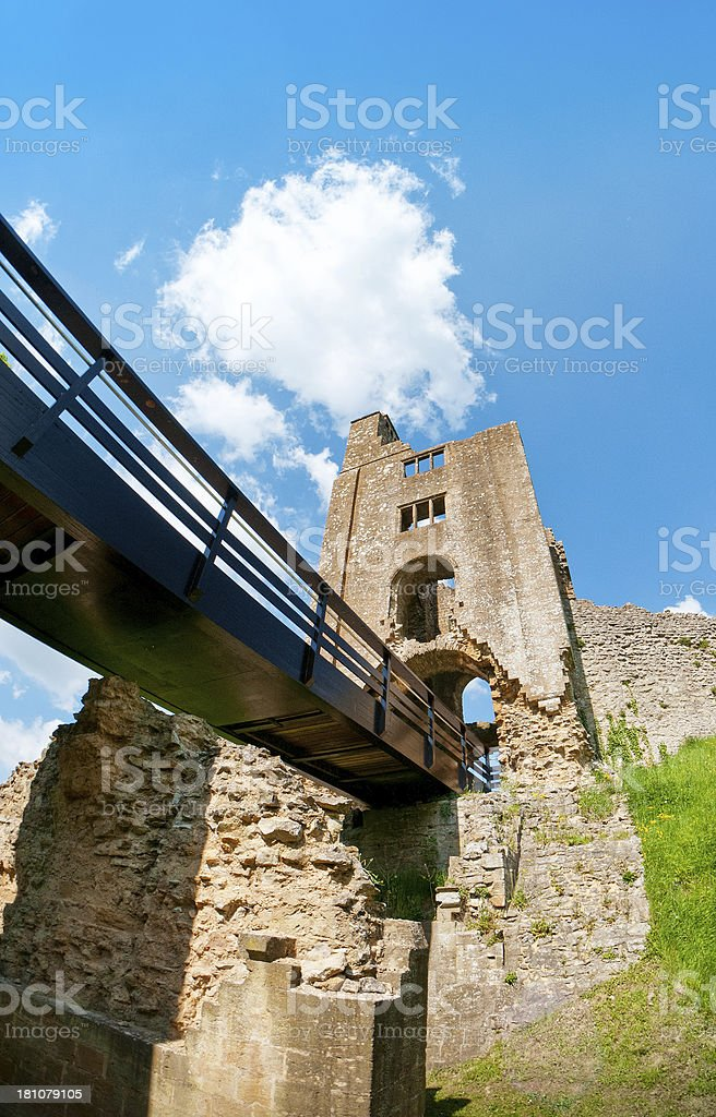 Sherborne Old Castle, Castleton, Dorset, United Kingdom royalty-free stock photo