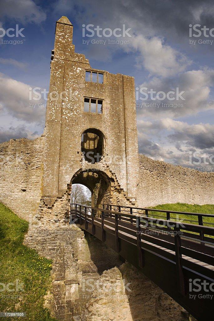 Sherborne Old Castle stock photo