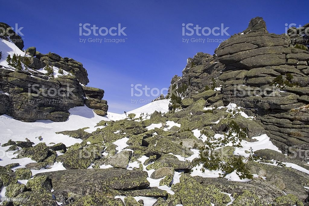 Sheregesh. Siberian mounts. 19 royalty-free stock photo