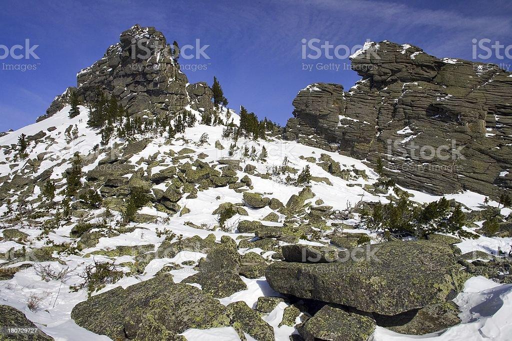 Sheregesh. Siberian mounts. 35 royalty-free stock photo
