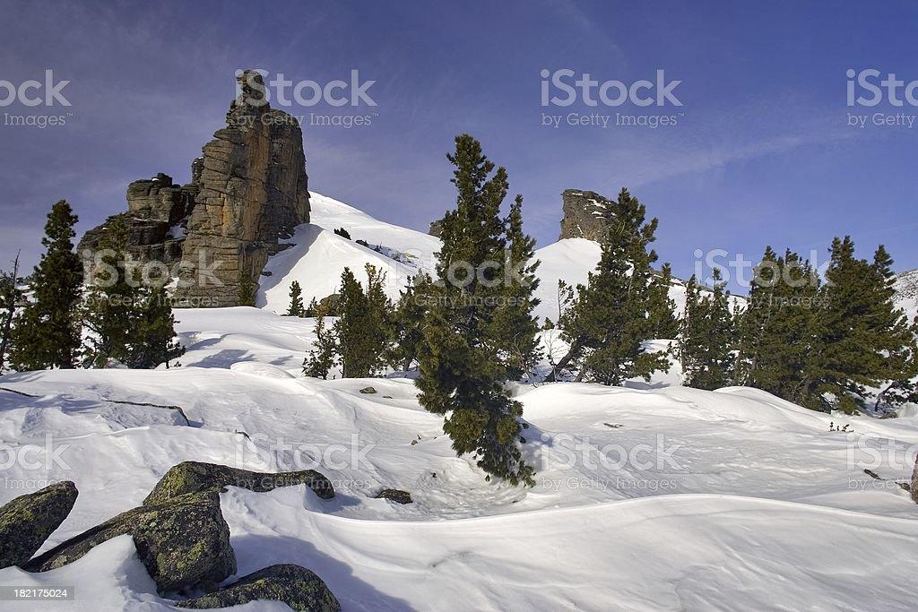 Sheregesh. Siberian mounts. 40 royalty-free stock photo