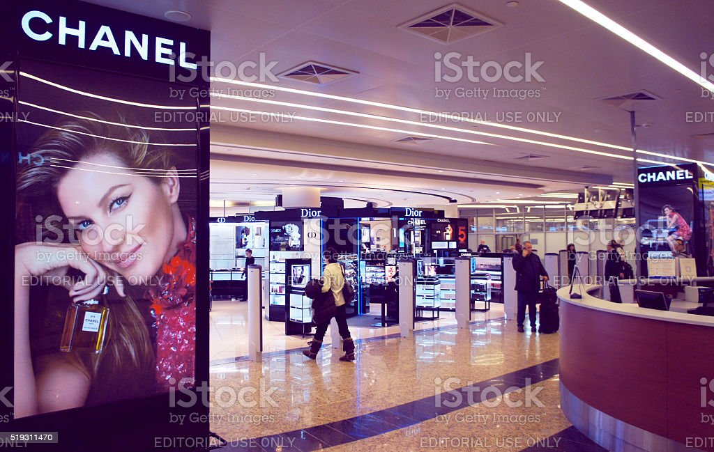 Sheremetyevo International Airport Duty Free stock photo