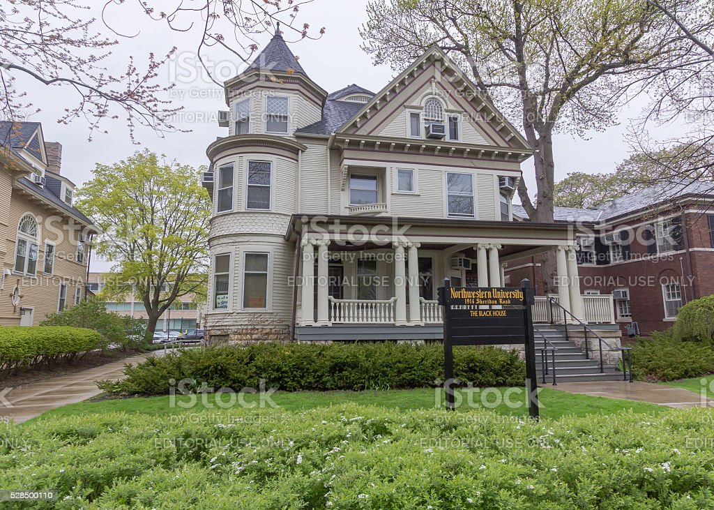 1914 Sheridan Road at Northwestern stock photo
