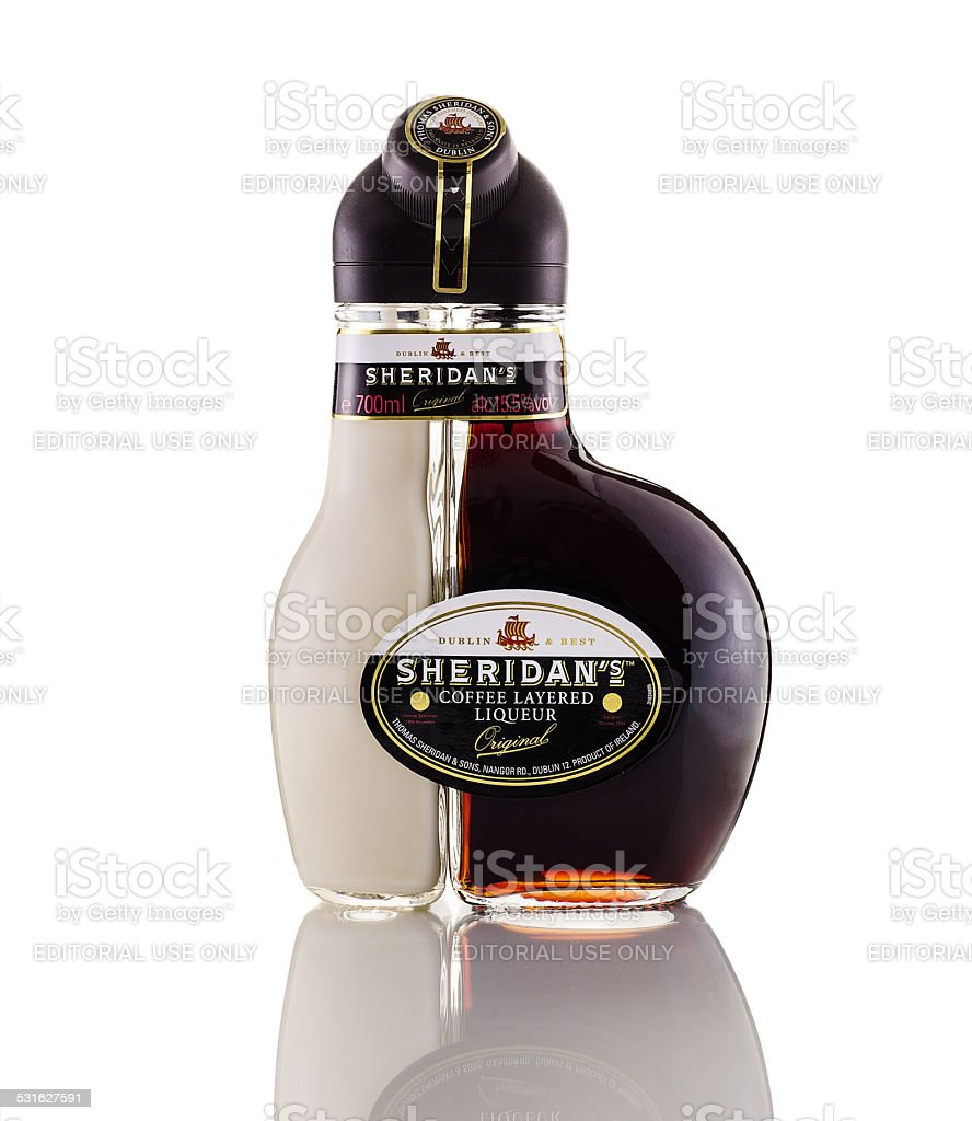 Sheridans Coffee Layered Liqueur stock photo