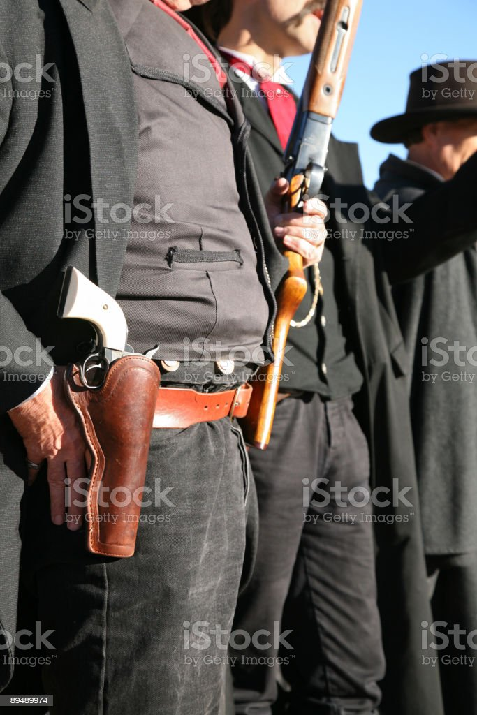 Sheriff and his deputies stock photo