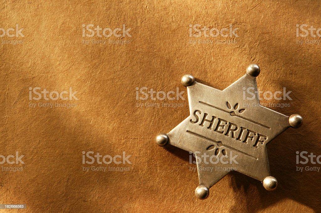 Sheriff Badge 3 royalty-free stock photo