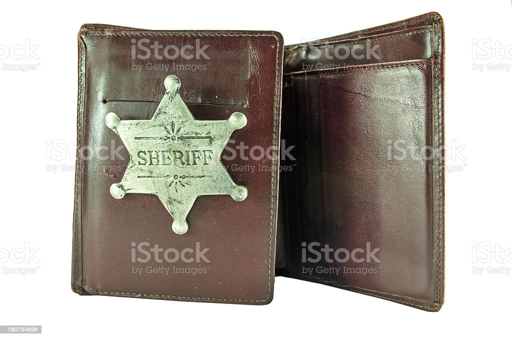 Sheriff Badge in Wallet royalty-free stock photo
