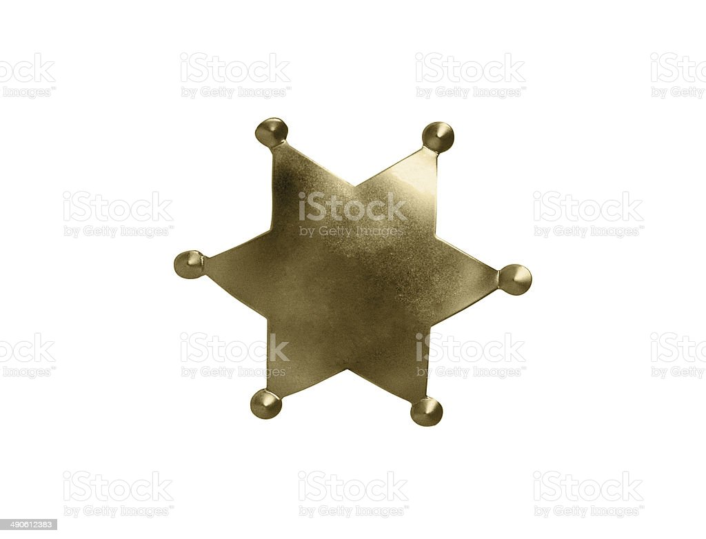 sheriff badge isolated on white background royalty-free stock photo