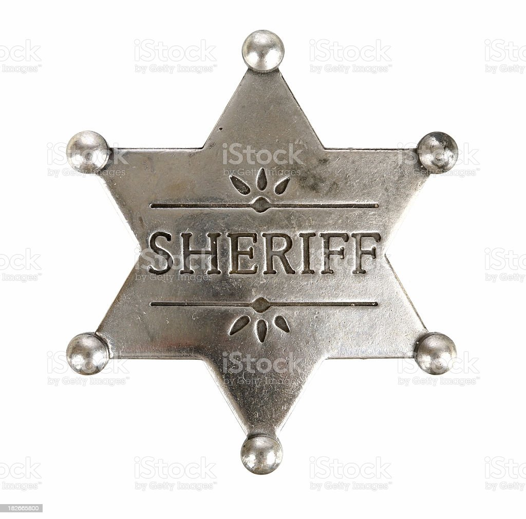 Sheriff Badge - Isolated stock photo