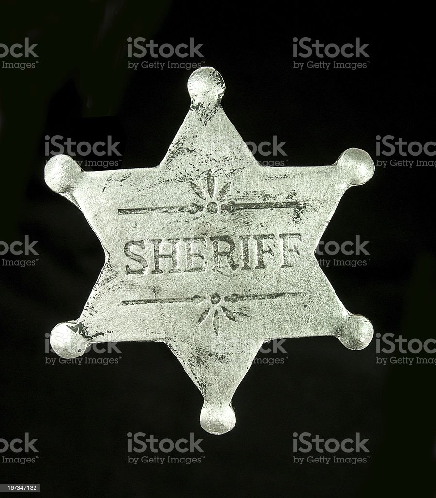 Sheriff Badge on Black royalty-free stock photo