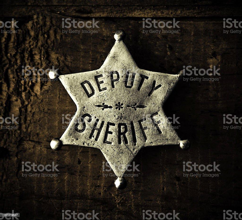 sheriff badge royalty-free stock photo