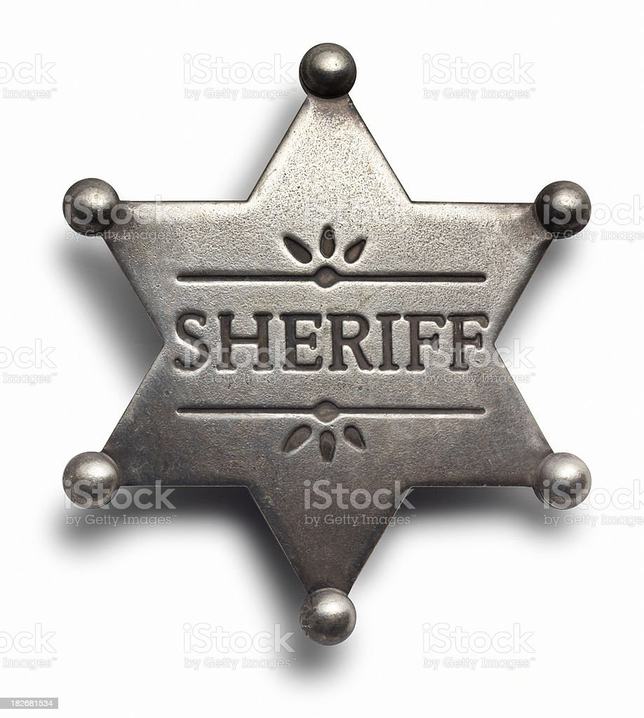 Sheriff Badge stock photo