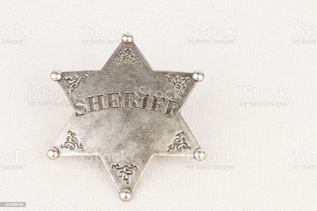 Sheriff badge. stock photo