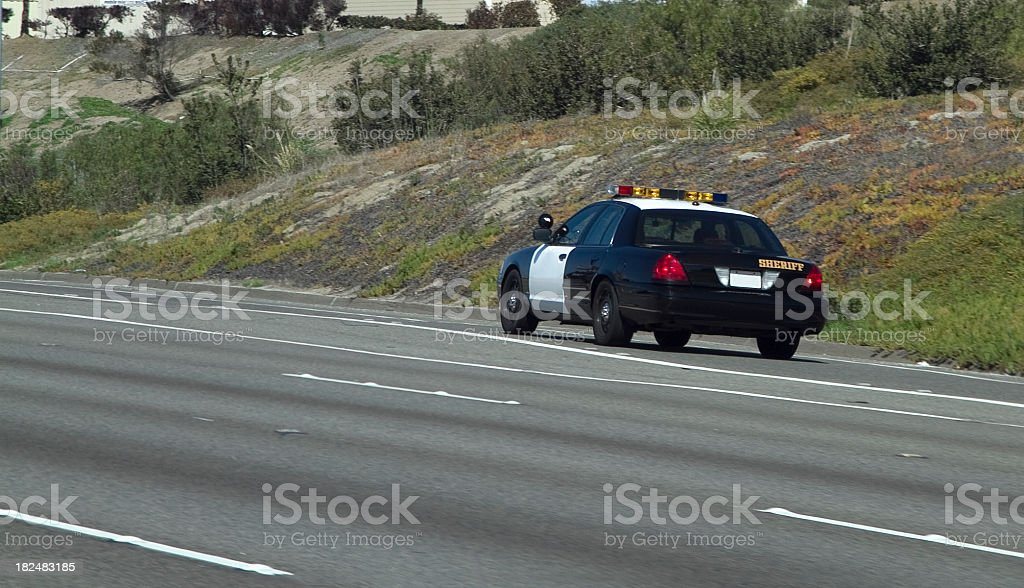 Sheriff Car stock photo