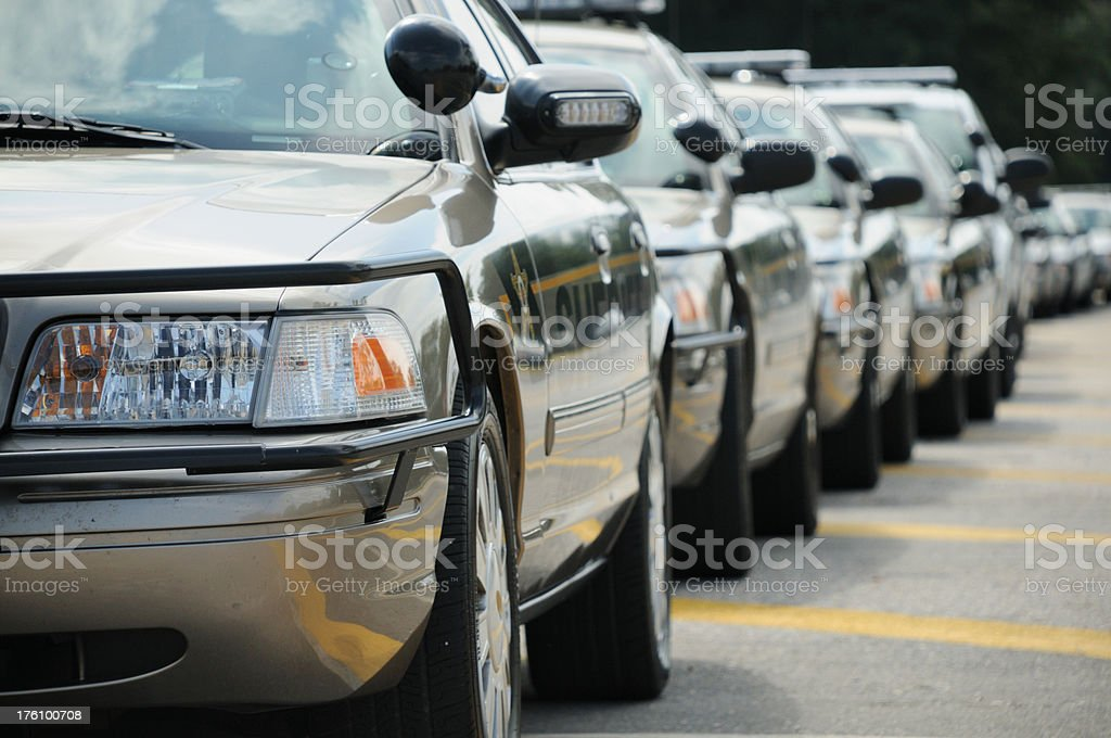 Sheriff cars royalty-free stock photo