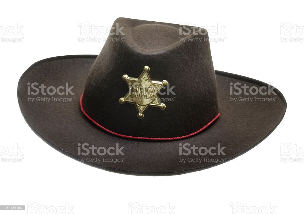 Sheriff Cowboy Hut stock photo