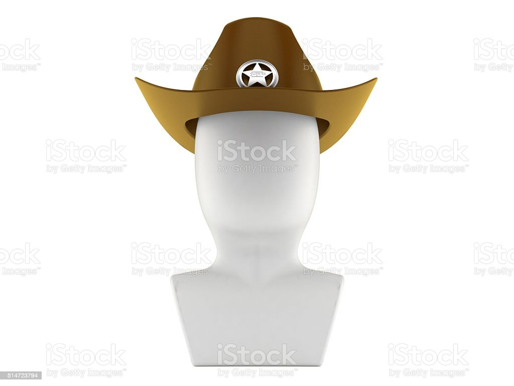 Sheriff icon stock photo