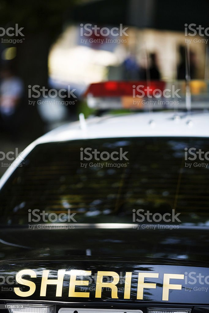 Sheriff In Town stock photo