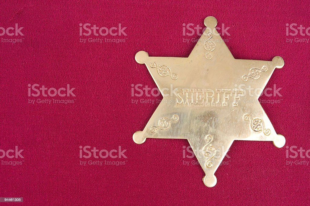 Sheriff in Town royalty-free stock photo