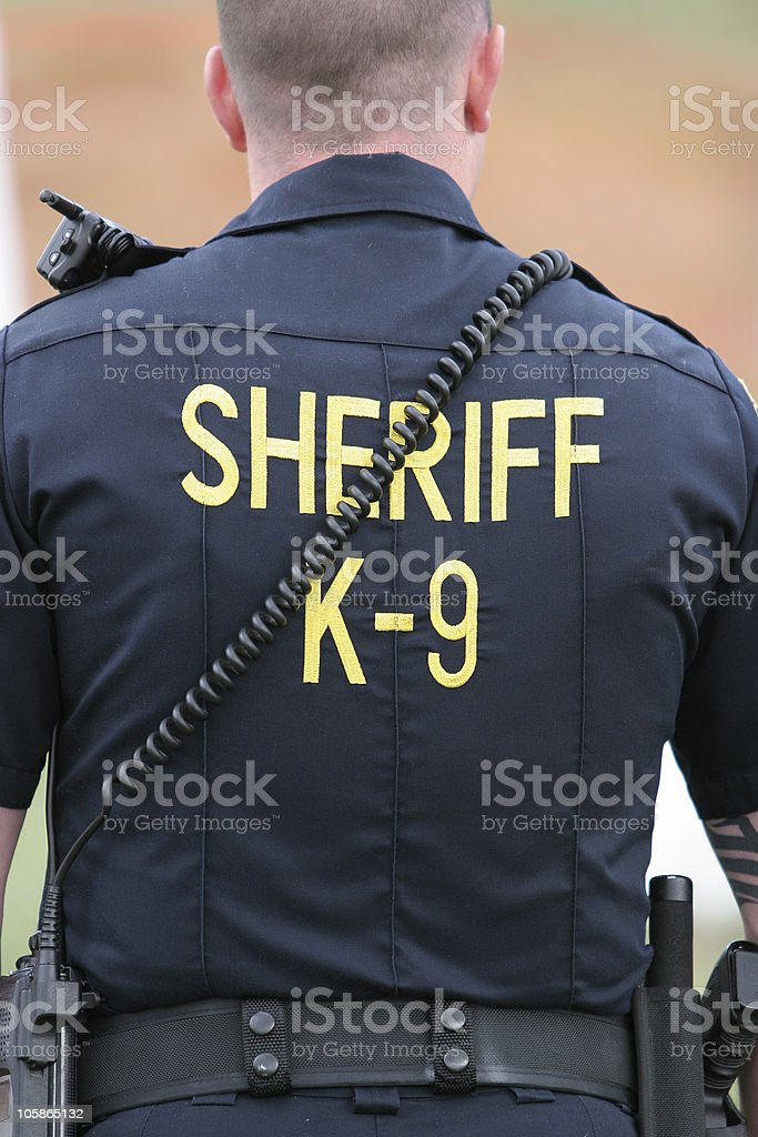 Sheriff K-9 Unit stock photo
