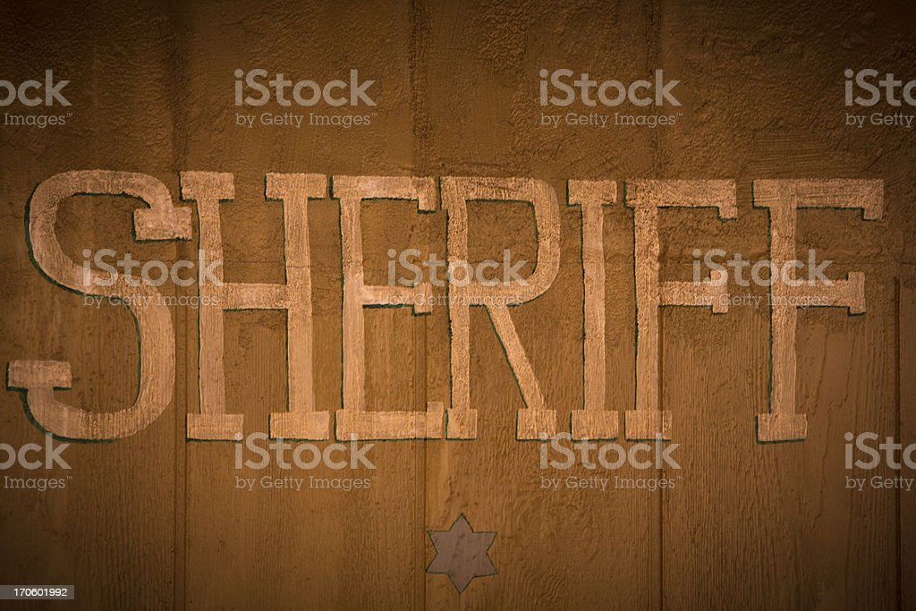 Sheriff Office royalty-free stock photo