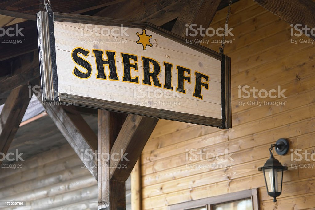 Sheriff royalty-free stock photo