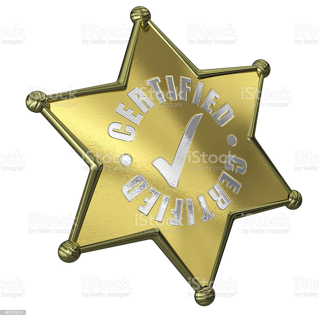 Sheriff Star Certified royalty-free stock photo