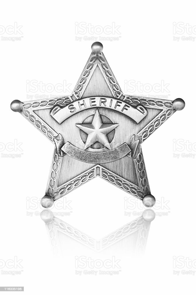 Sheriff Star stock photo