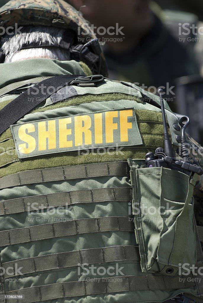 Sheriff SWAT Team Member royalty-free stock photo