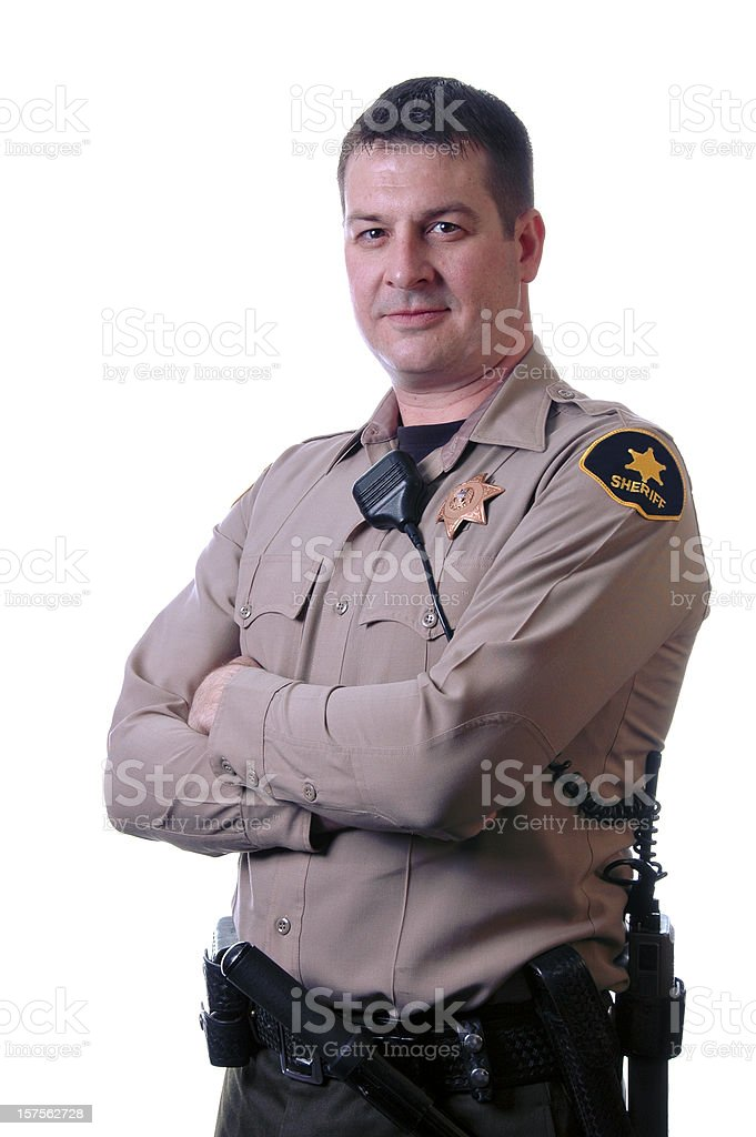 Sheriff with Crossed Arms royalty-free stock photo