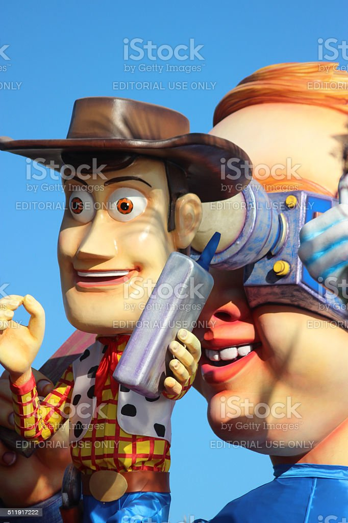Sheriff Woody - Carnival of Nice 2016 stock photo
